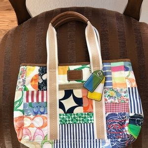 COACH BAG WITH PATCHWORK.